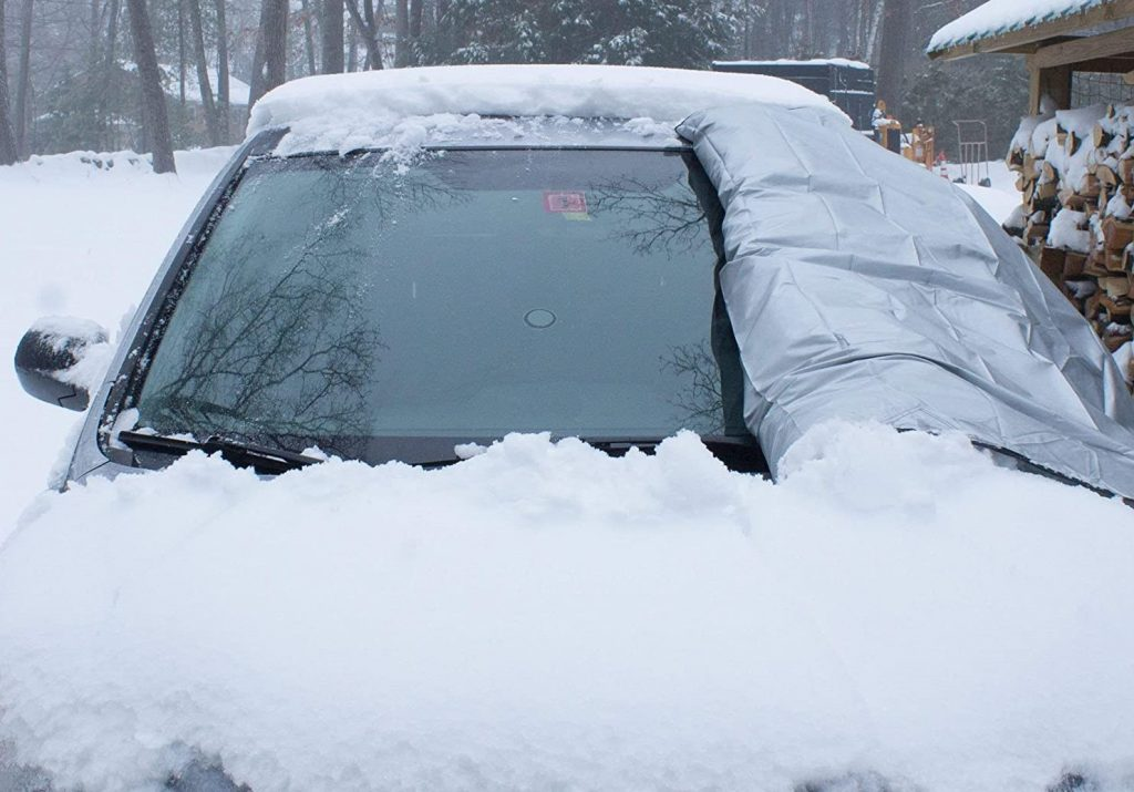 Windshield covers for snow and ice