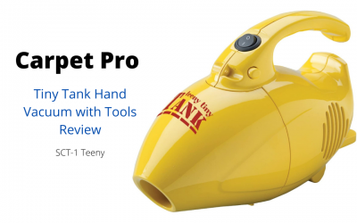 Carpet Pro SCT-1 Teeny Tiny Tank Hand Vacuum with Tools Review