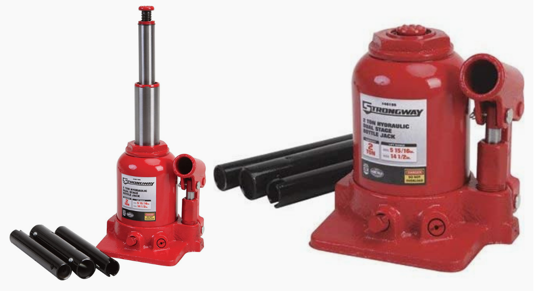 Strongway 2-ton hydraulic high lift double ram bottle jack Review