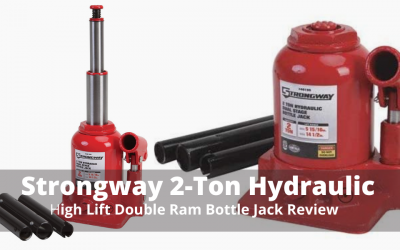 Strongway 2-Ton Hydraulic High Lift Double Ram Bottle Jack