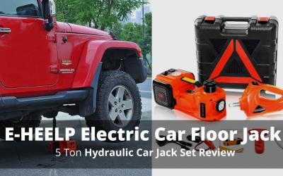 E-HEELP Electric Car Floor Jack 5 Ton Hydraulic Car Jack Set Review