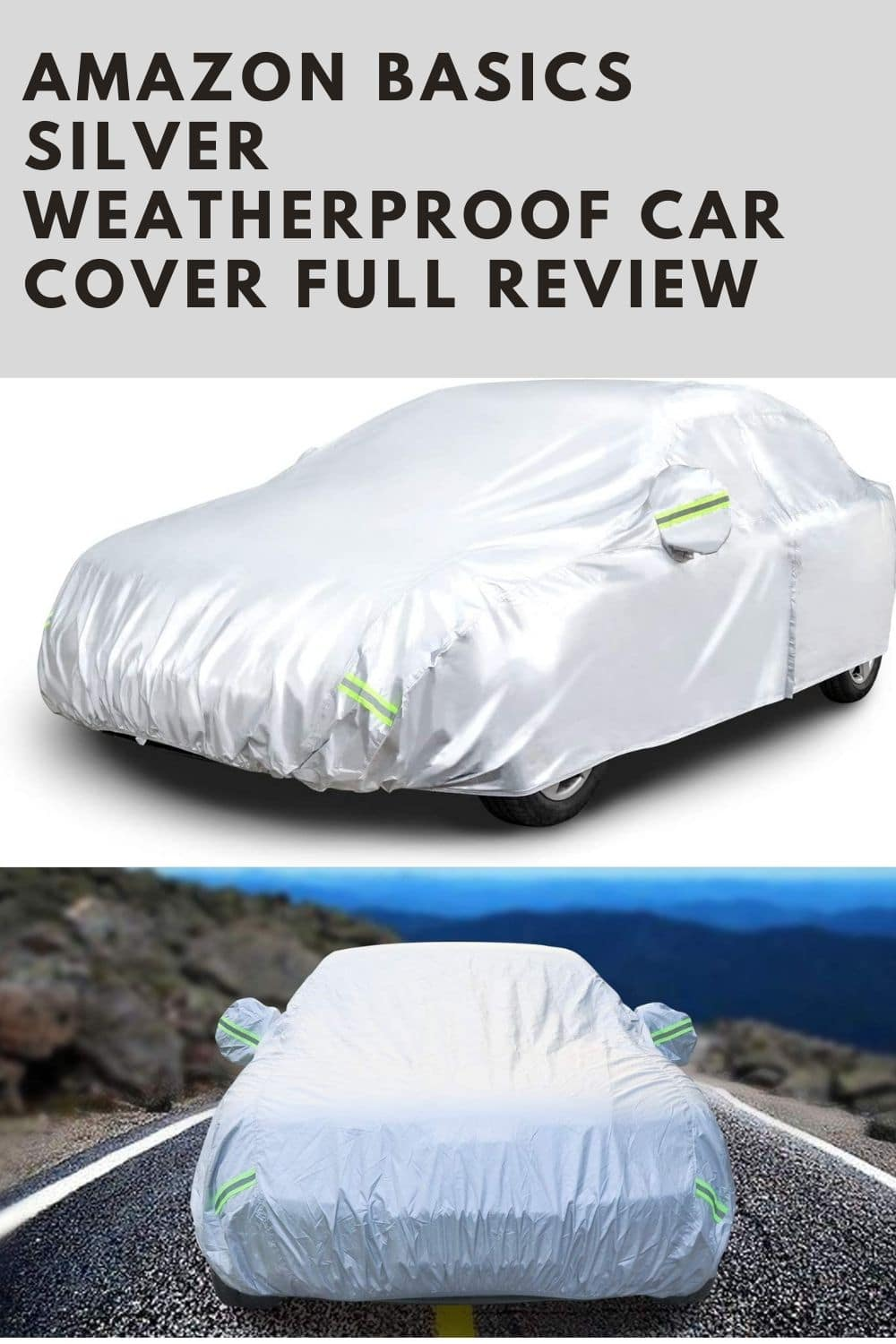 Amazon Basics Silver Weatherproof Car Cover - 150D Oxford, Sedans up to 160 full review