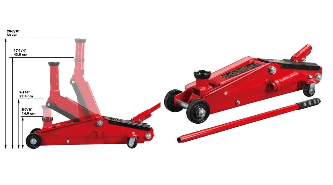 BIG RED T83006 Torin Hydraulic Trolley Service/Floor Jack with Extra Saddle