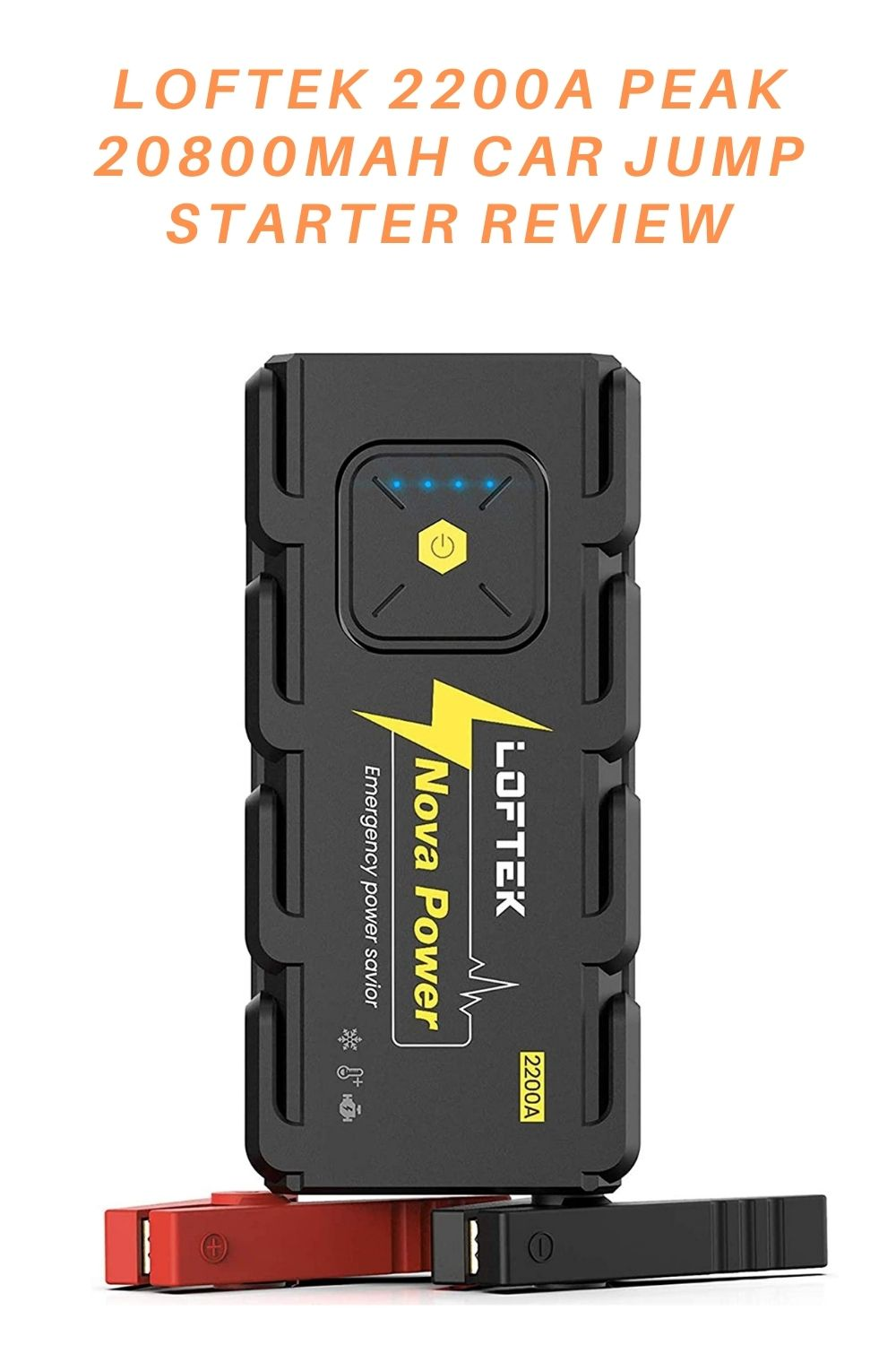 LOFTEK 2200A Peak 20800mAh Car Jump Starter Review