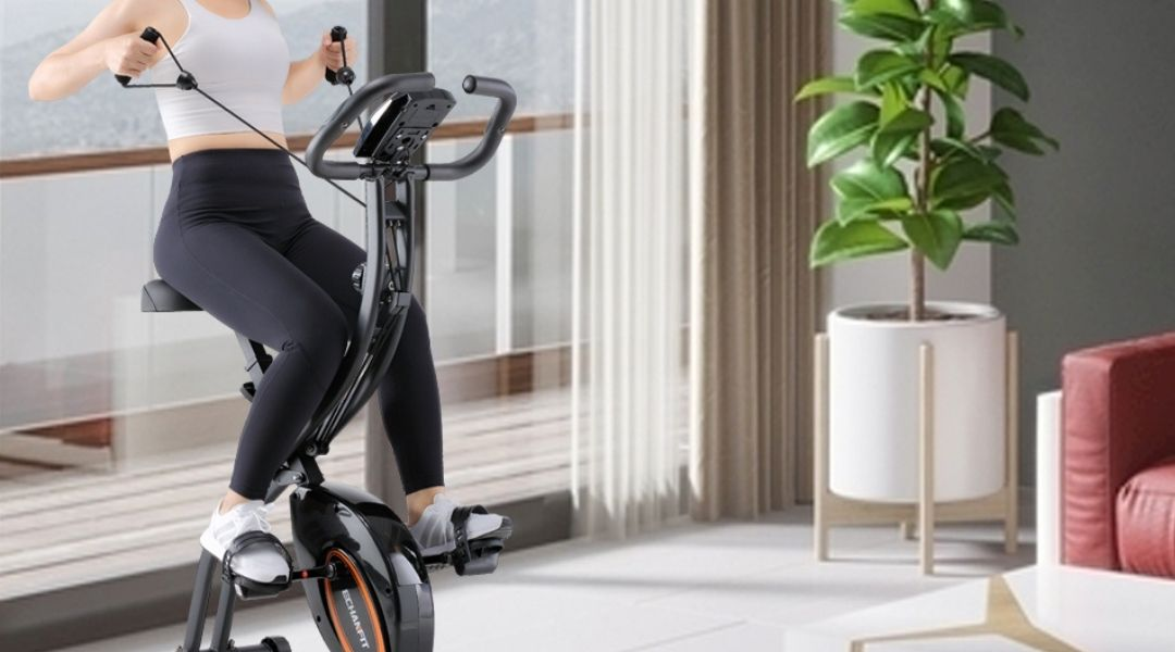 ECHANFIT Indoor Cycling Bike With 16 Levels & Electronic Display